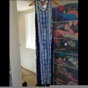 Maxi Blue Dress,  NWT